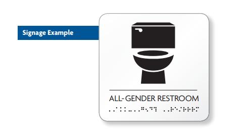 DOB Gender Neutral Bathroom Sign