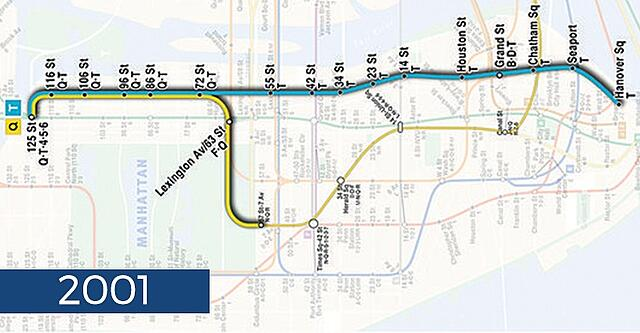Second Ave Subway Map.Second Avenue Subway History 100 Years In The Making