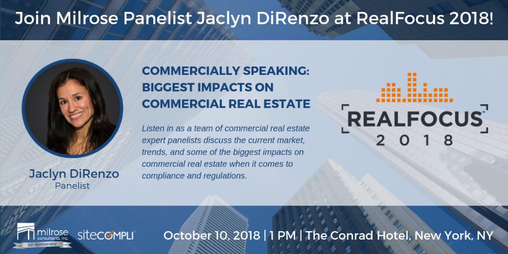 Join Milrose Panelist Jaclyn DiRenzo at SiteCompli RealFocus 2018